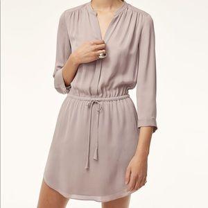 Aritzia Babaton Bennett Silk Dress Medium